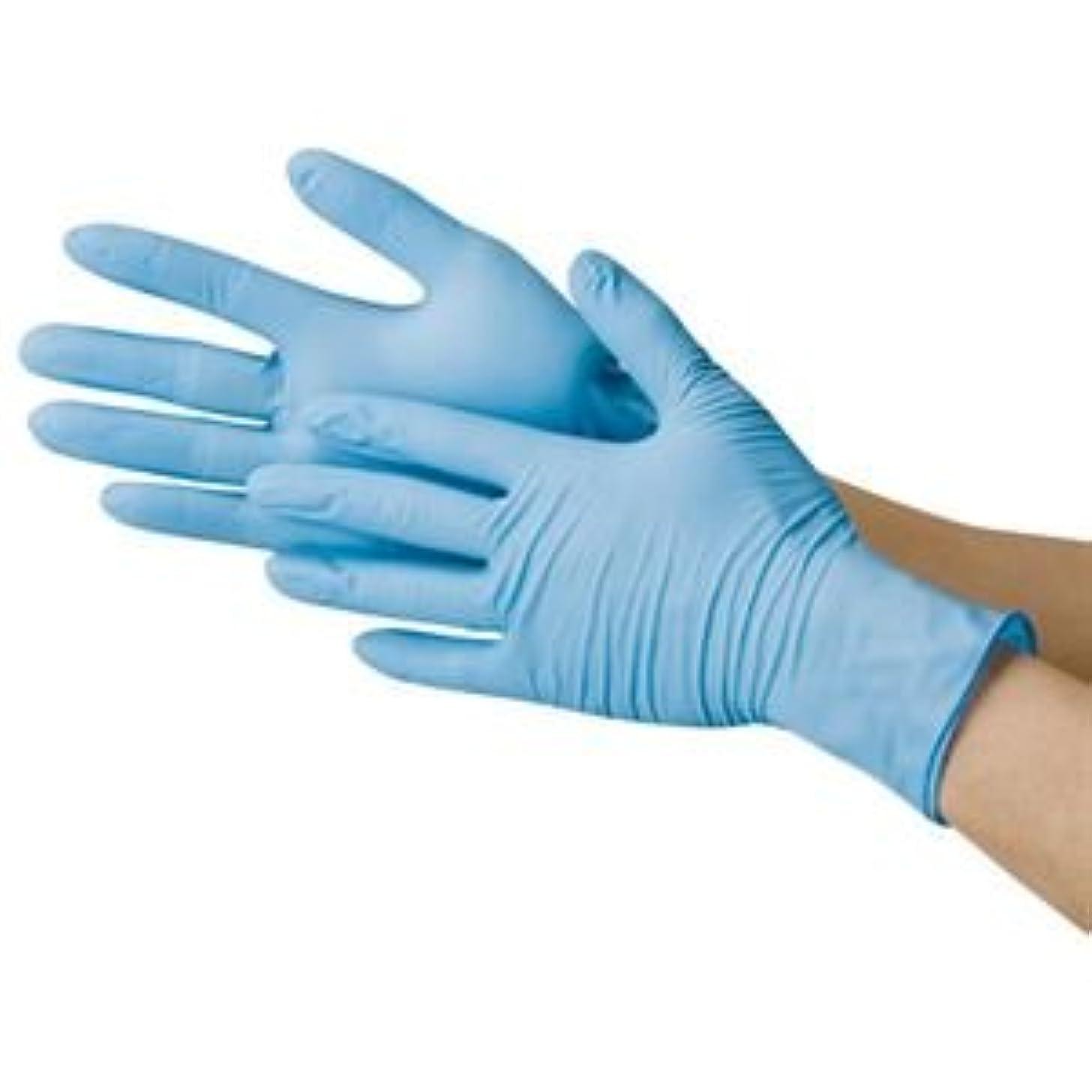 含む検査チーフ川西工業 ニトリル極薄手袋 粉なし ブルーM