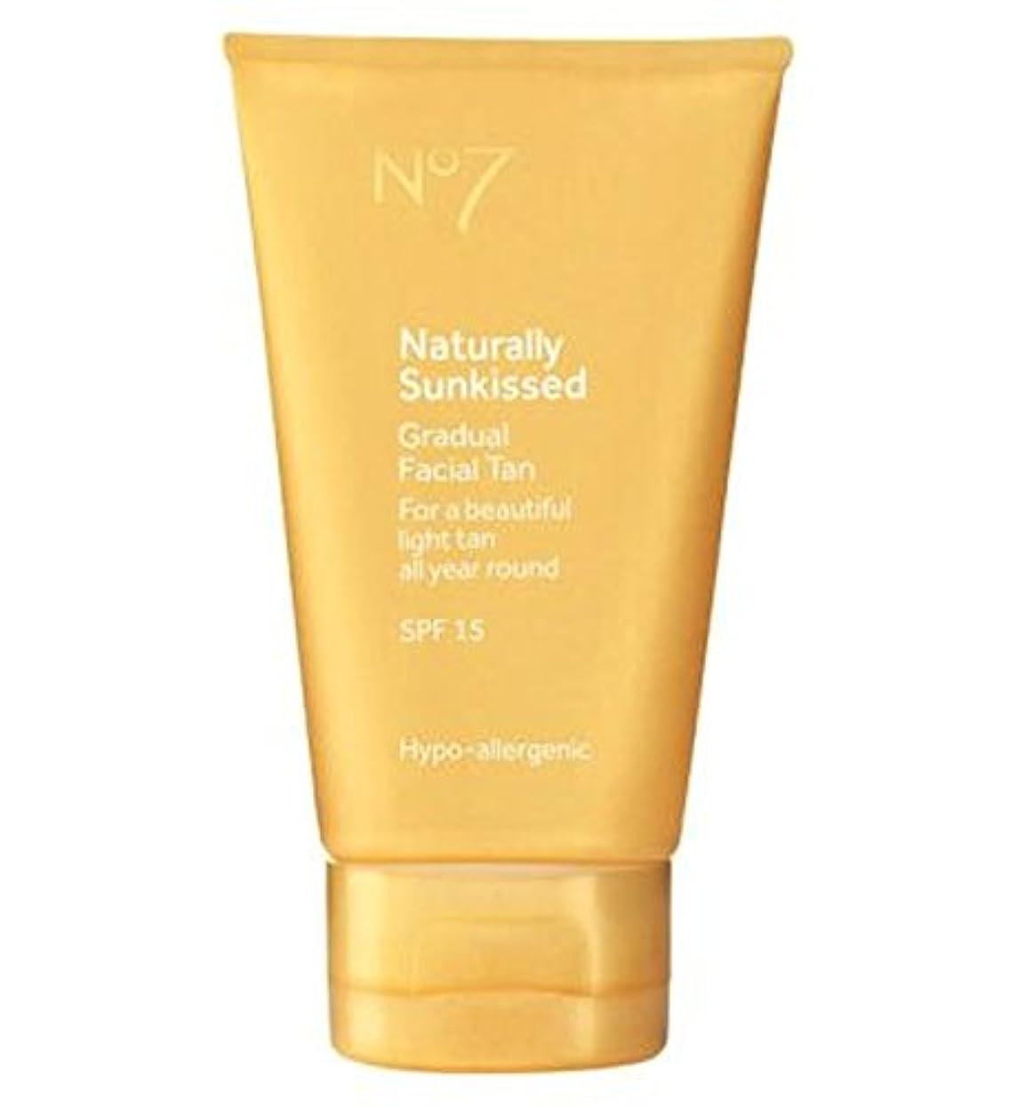 出発する火炎スペアNo7は自然に太陽が緩やかな顔日焼けSp15にキスをしました (No7) (x2) - No7 Naturally Sun Kissed Gradual Face Tan SP15 (Pack of 2) [並行輸入品]
