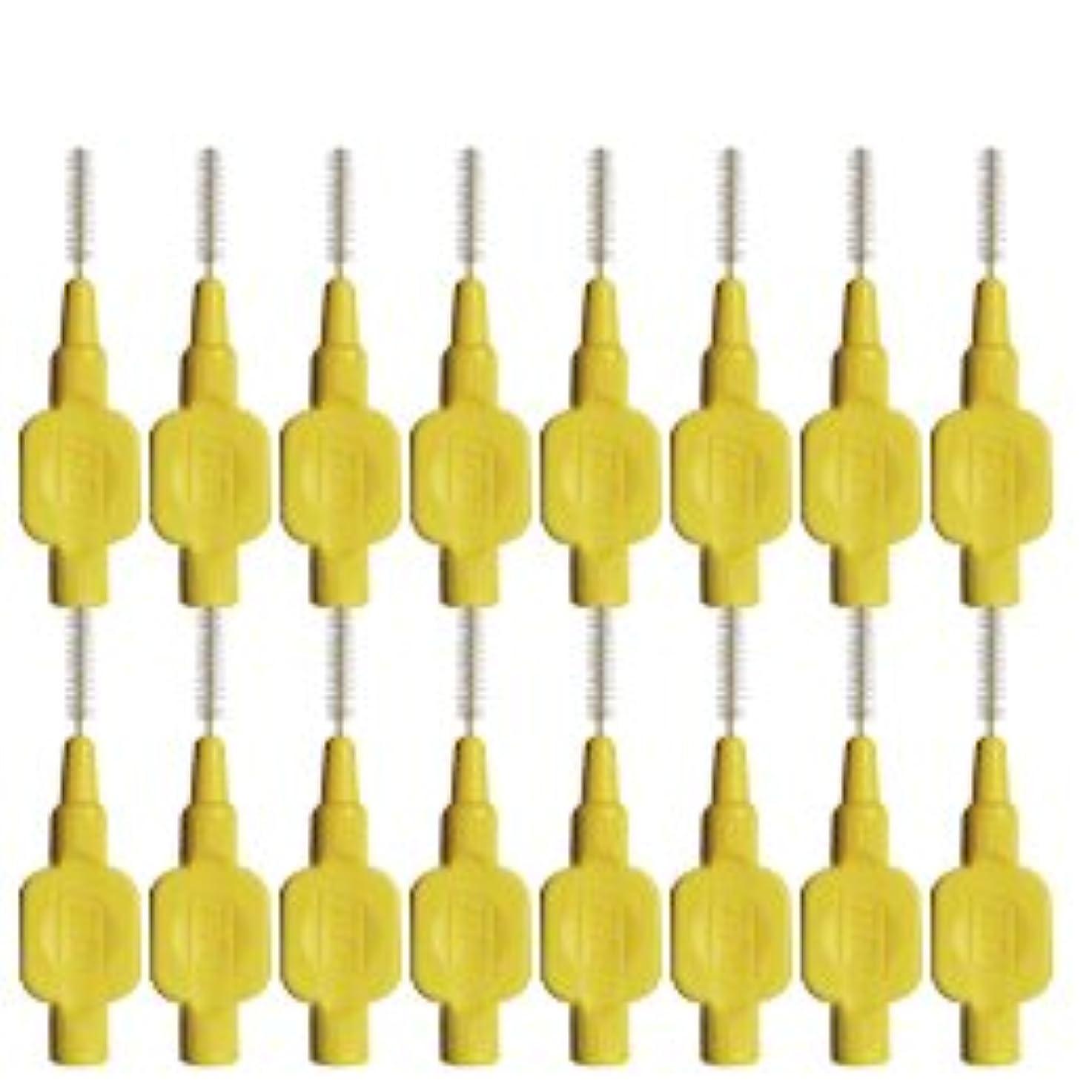 屋内で安定全部テペ(TePe) 歯間ブラシ 8本入 × 2個 イエロー(0.7mm)