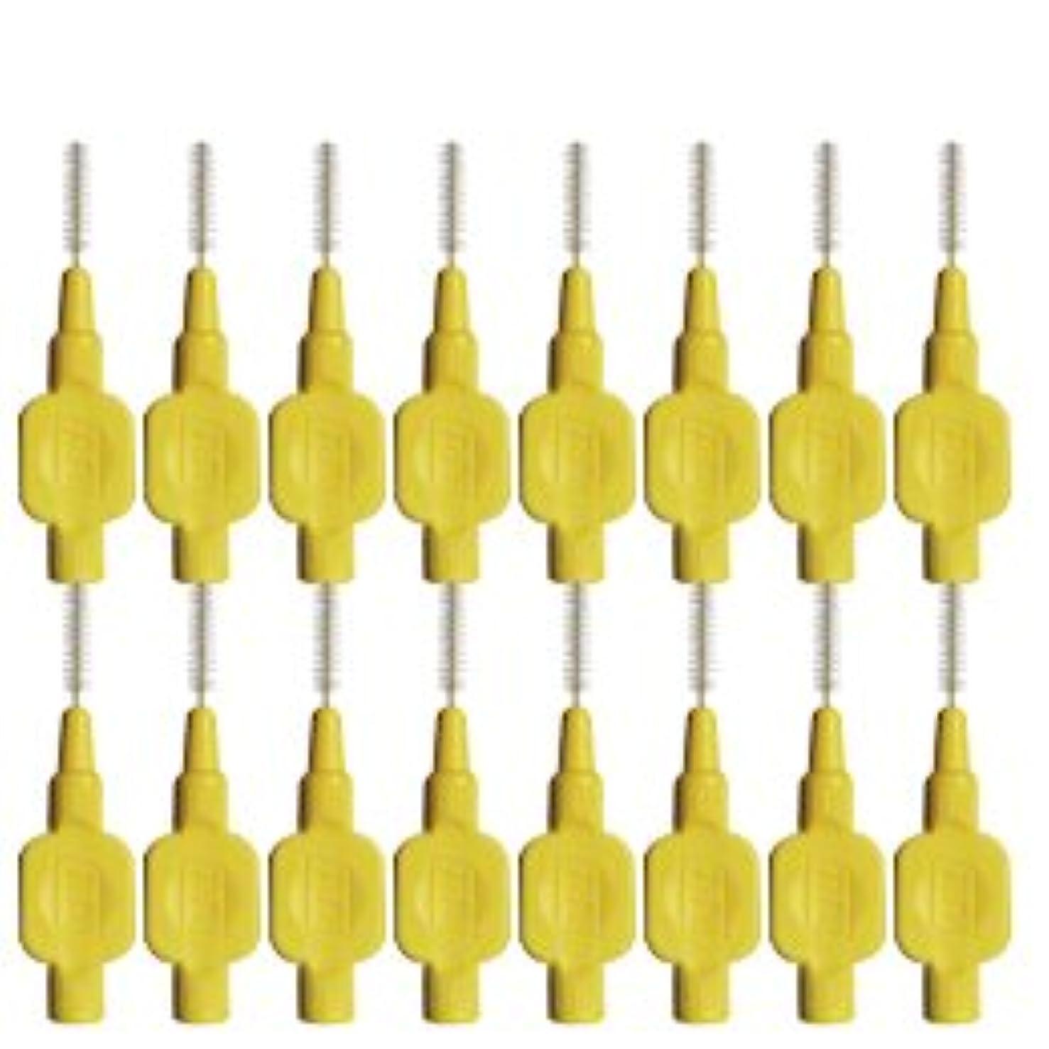 暖かくむき出しコモランマテペ(TePe) 歯間ブラシ 8本入 × 2個 イエロー(0.7mm)