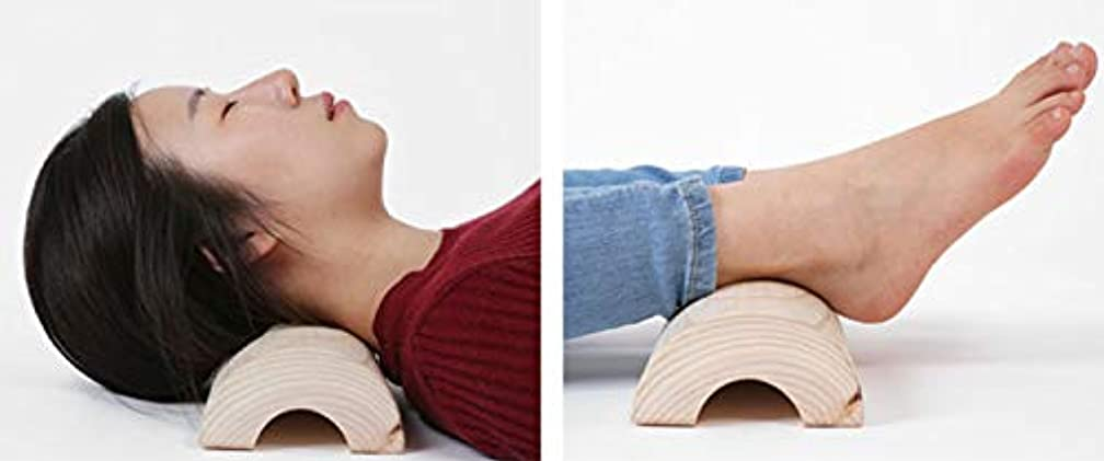 コンピューターを使用する牛肉キャメルヒノキ枕,ヒノキ健康指圧枕、、高さ5.5,幅12センチもあり.長い40センチの枕、長いので寝かえり楽