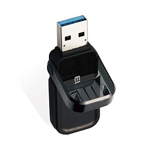 USBメモリ 64GB USB3.0 3.1 (Gen1) なくさないキャップ ブラック エレコム MF-FCU3064GBK