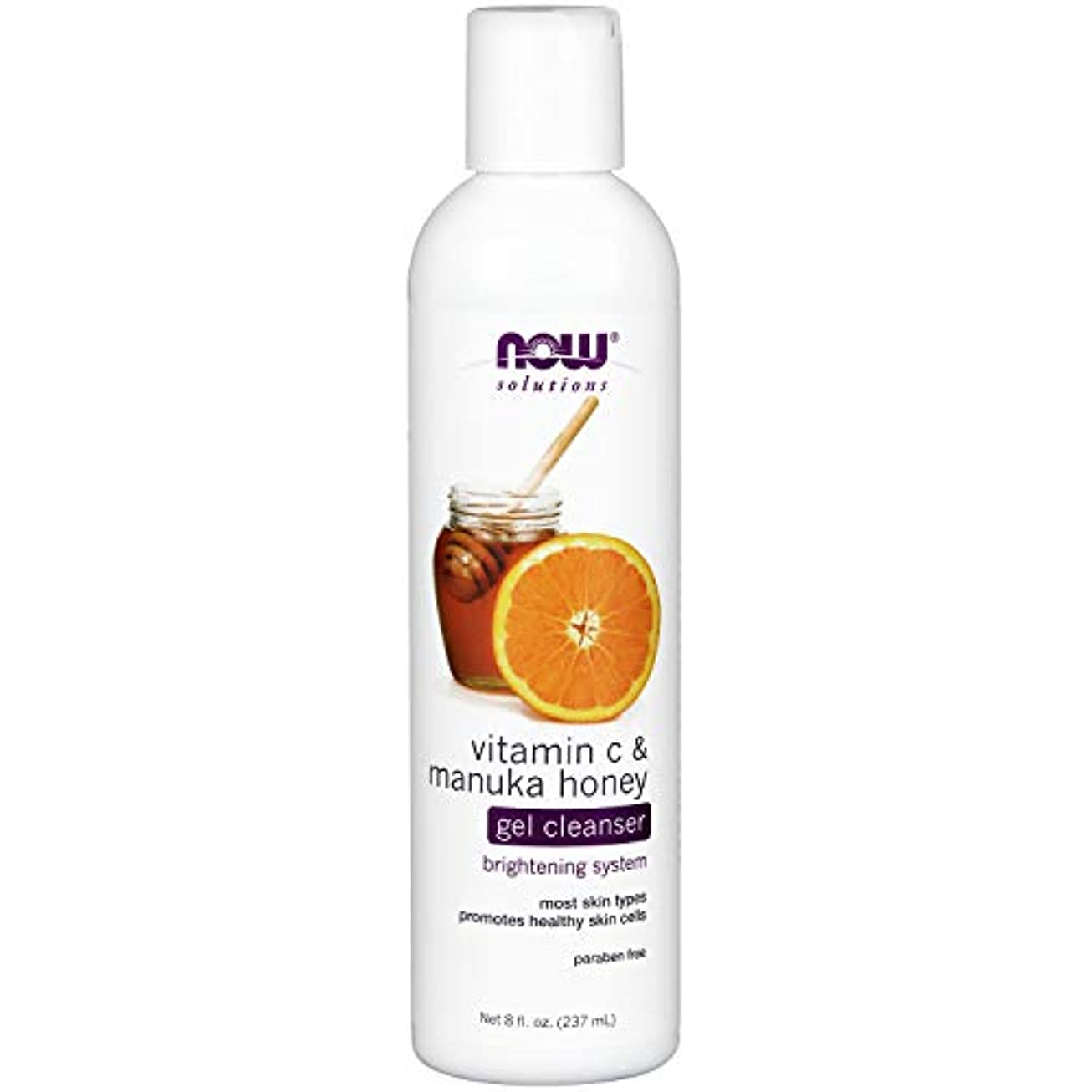 スロベニア傘出力NOW Vitamin C & Manuka Honey Gel Cleanser - 8 fl. oz. ビタミンC&マヌカハニー配合のジェルタイプ洗顔 ~海外直送品~