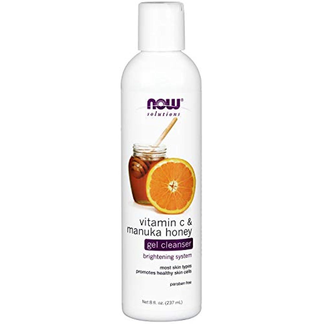 寂しいブラウス遺伝子NOW Vitamin C & Manuka Honey Gel Cleanser - 8 fl. oz. ビタミンC&マヌカハニー配合のジェルタイプ洗顔 ~海外直送品~