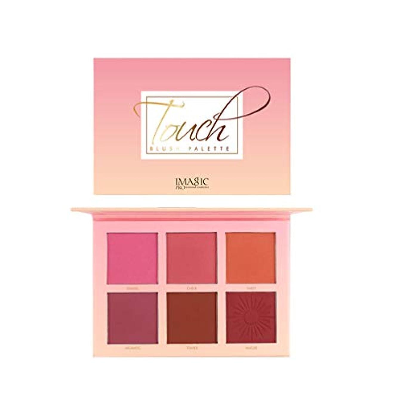 急ぐ満足崇拝するLurrose 6色化粧品パウダー赤面パレット防水頬赤面顔料メイク赤面化粧品キット