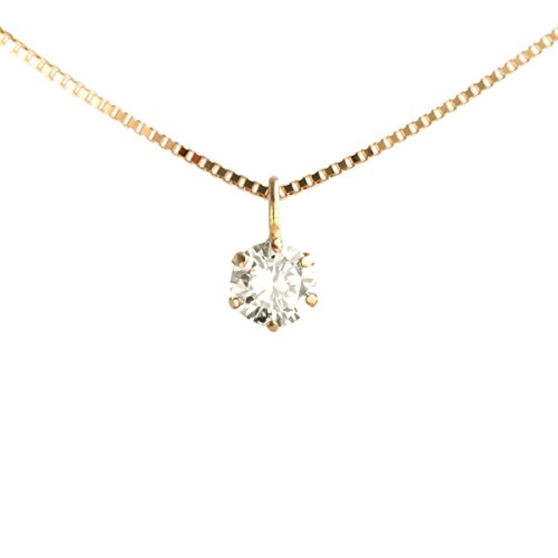 【 DIAMOND WORLD 】レディース ジュエリー K18PG ダイヤモンドペンダントネックレス 0.15ct F?Gカラー
