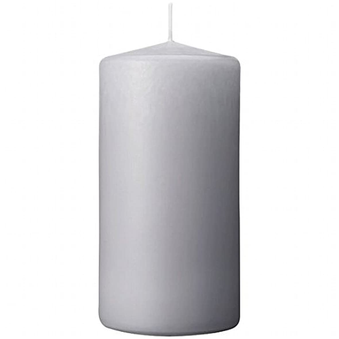 やろうマグジェムカメヤマキャンドル(kameyama candle) 3×6ベルトップピラーキャンドル 「 ライトグレー 」