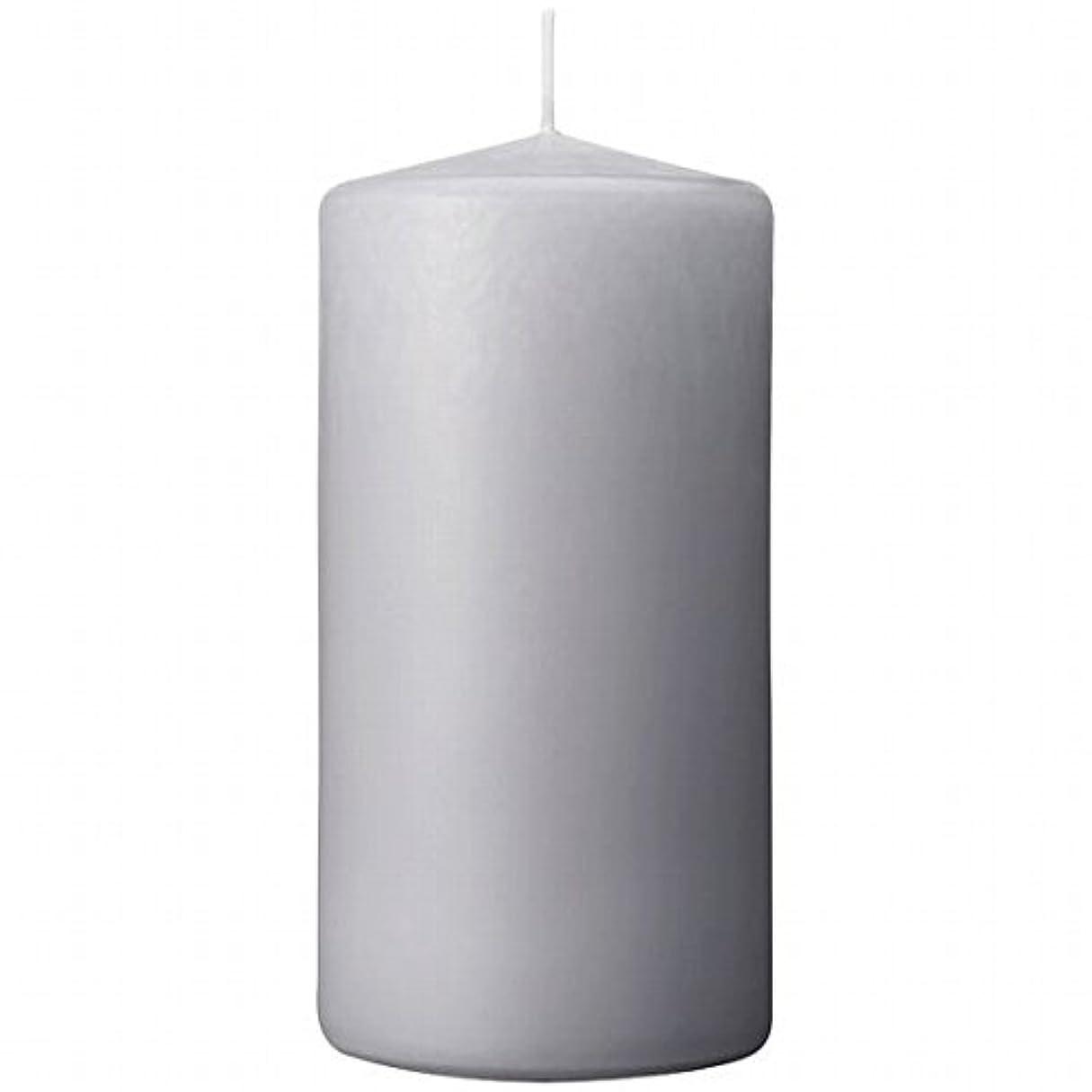 カメヤマキャンドル(kameyama candle) 3×6ベルトップピラーキャンドル 「 ライトグレー 」