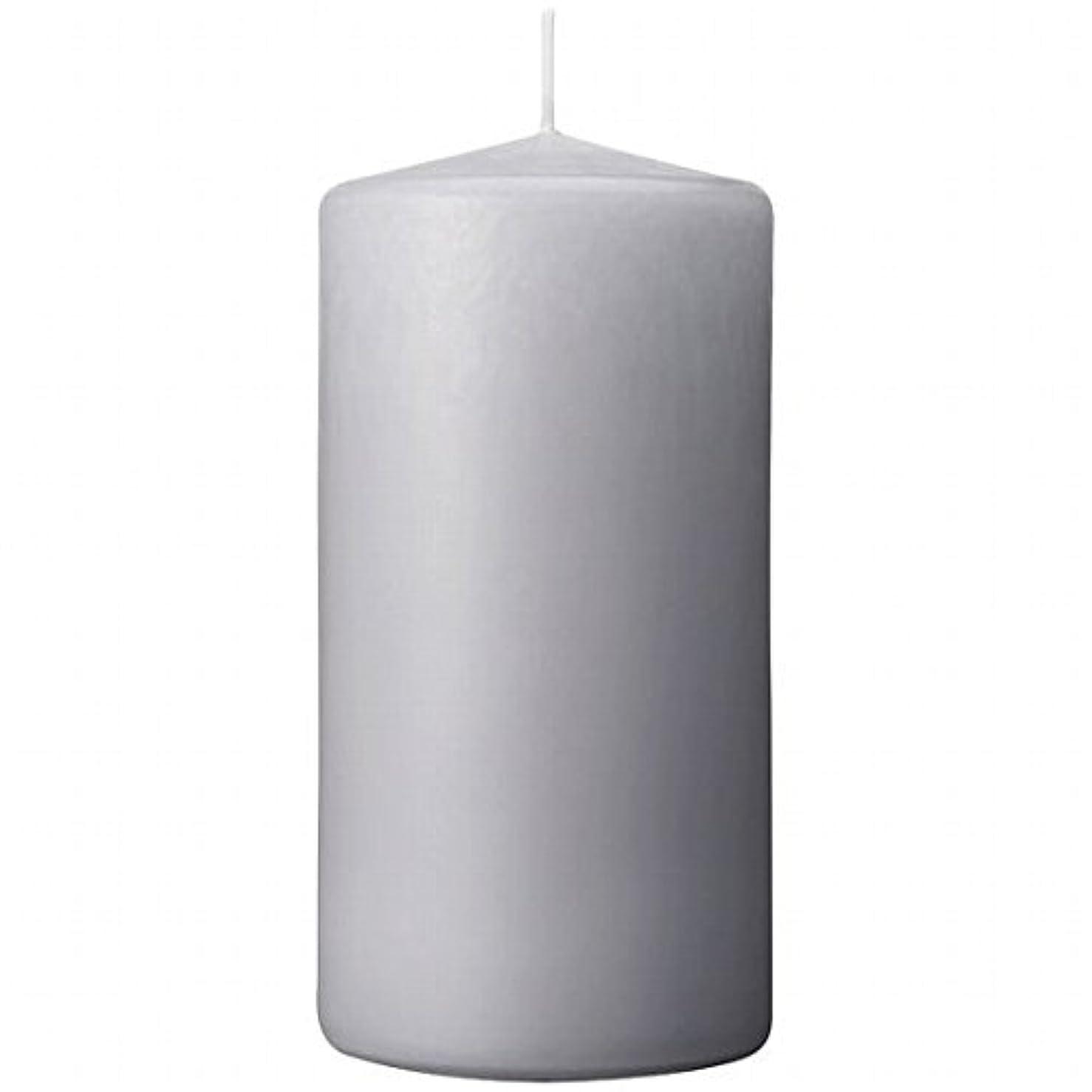 フリル虚偽小屋カメヤマキャンドル(kameyama candle) 3×6ベルトップピラーキャンドル 「 ライトグレー 」