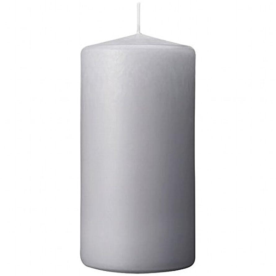 宣言する従事するステッチカメヤマキャンドル(kameyama candle) 3×6ベルトップピラーキャンドル 「 ライトグレー 」