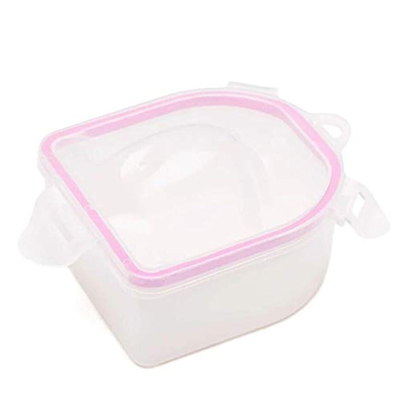 種類凶暴な襟ネイルスパアセトン耐性ソークオフ暖かい水ボウルマニキュアネイルソークボウルマニキュア治療ツール,Pink