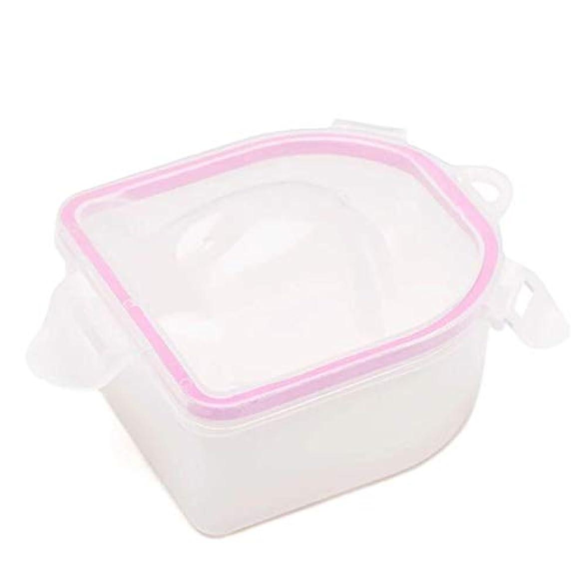 早い可動滑り台ネイルスパアセトン耐性ソークオフ暖かい水ボウルマニキュアネイルソークボウルマニキュア治療ツール,Pink