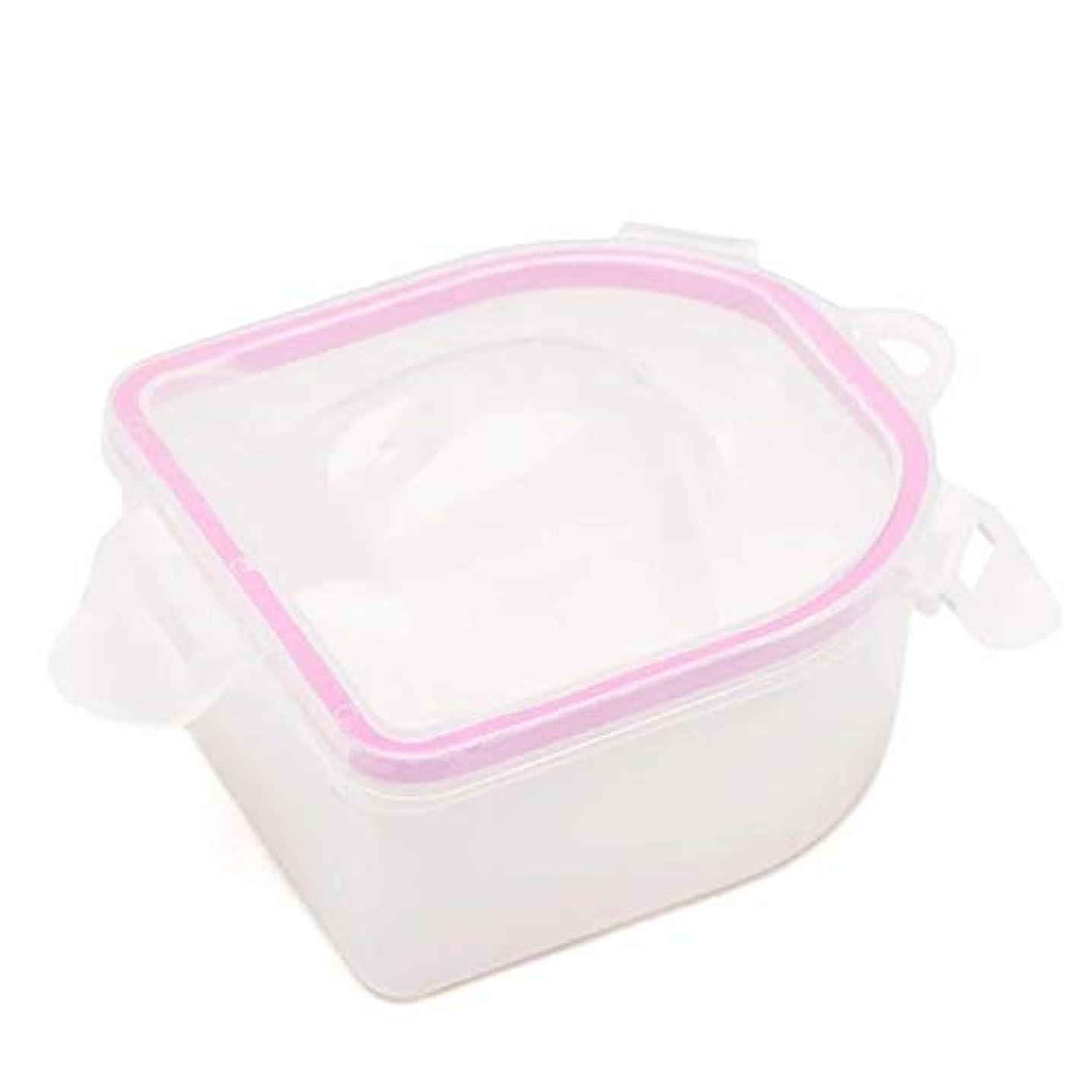 プラットフォーム食堂スタックネイルスパアセトン耐性ソークオフ暖かい水ボウルマニキュアネイルソークボウルマニキュア治療ツール,Pink