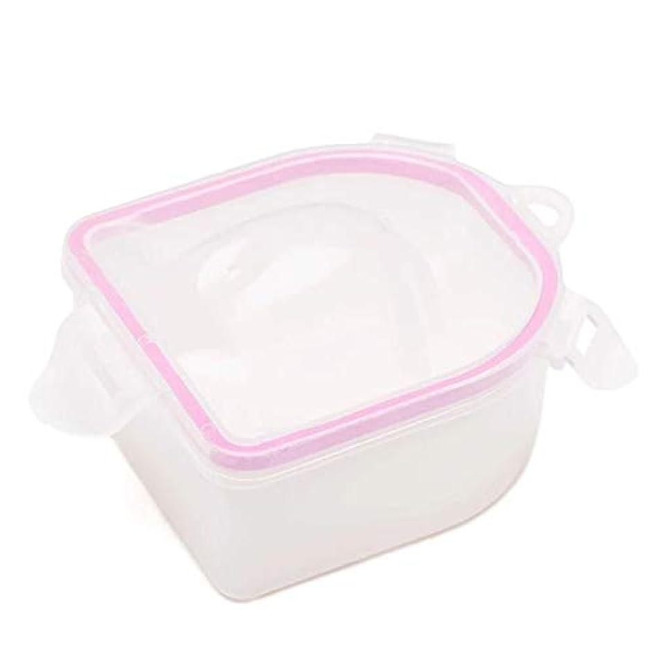 心のこもったラバ計算するネイルスパアセトン耐性ソークオフ暖かい水ボウルマニキュアネイルソークボウルマニキュア治療ツール,Pink
