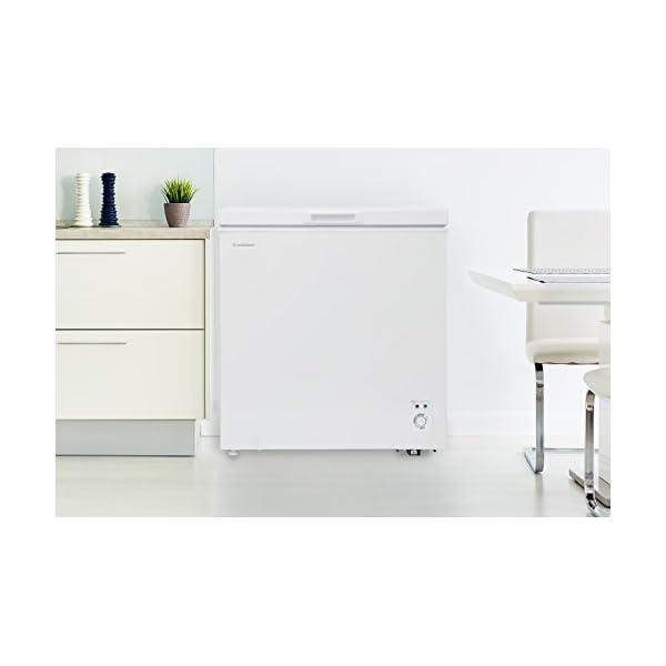 チェスト型冷凍庫 142L ホワイト 庫内灯付...の紹介画像7