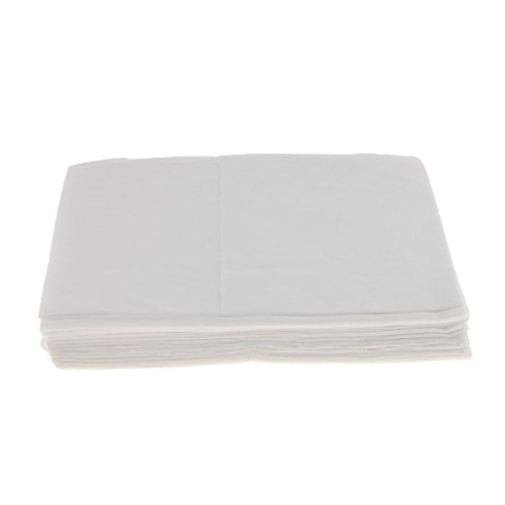 マークされたとらえどころのない前者Baosity 10枚 使い捨て ベッドシーツ サロン ホテル ベッドパッド カバー シート 2色選べ - 白