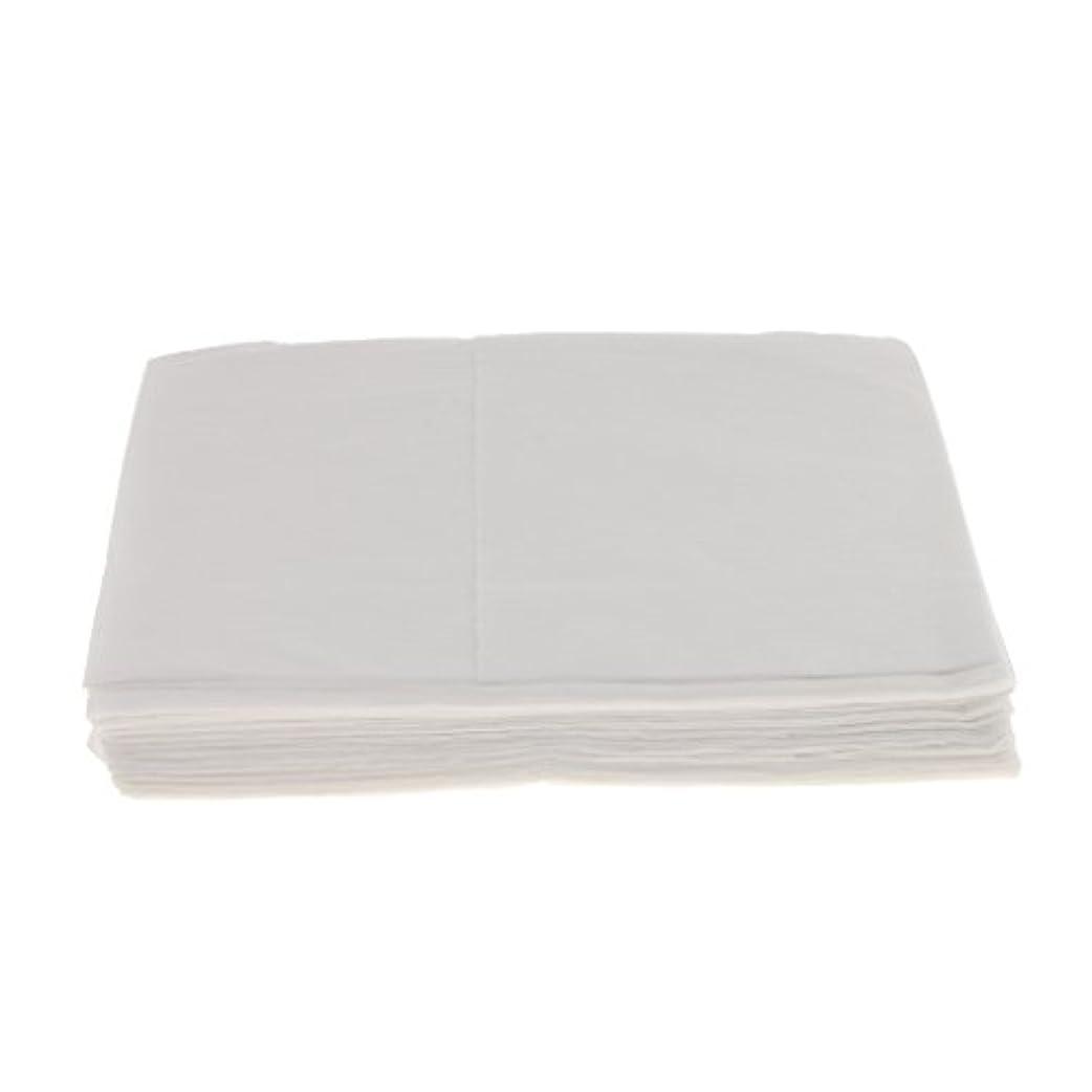 降臨悲劇金貸しBaosity 10枚 使い捨て ベッドシーツ サロン ホテル ベッドパッド カバー シート 2色選べ - 白