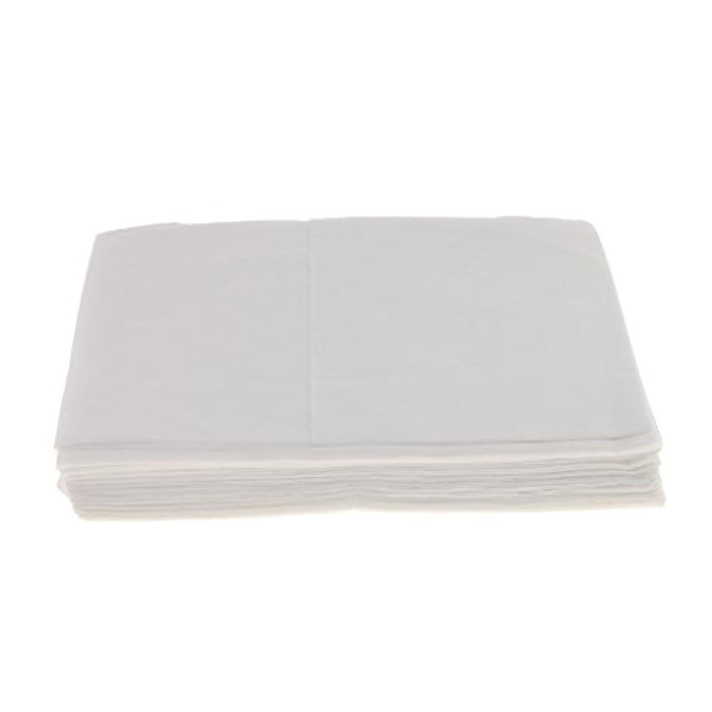 キャリア粘り強い繁栄Baosity 10枚 使い捨て ベッドシーツ サロン ホテル ベッドパッド カバー シート 2色選べ - 白