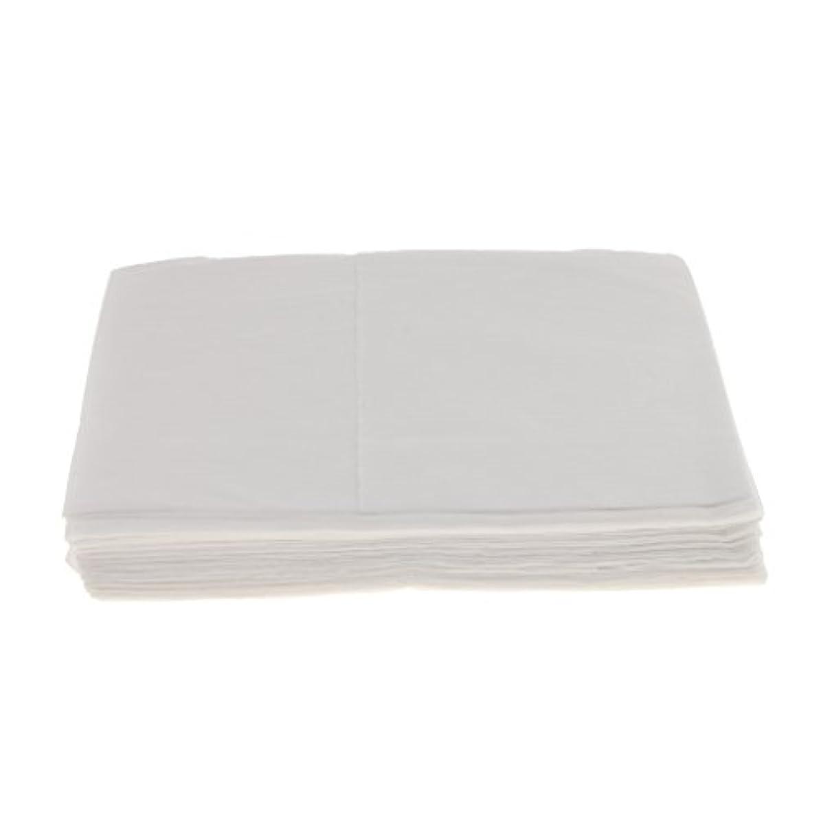 木製倍増弾丸Baosity 10枚 使い捨て ベッドシーツ サロン ホテル ベッドパッド カバー シート 2色選べ - 白