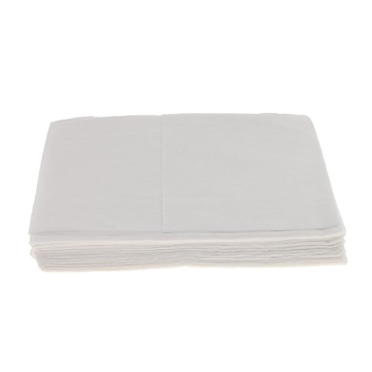 賠償トライアスロン非アクティブBaosity 10枚 使い捨て ベッドシーツ サロン ホテル ベッドパッド カバー シート 2色選べ - 白