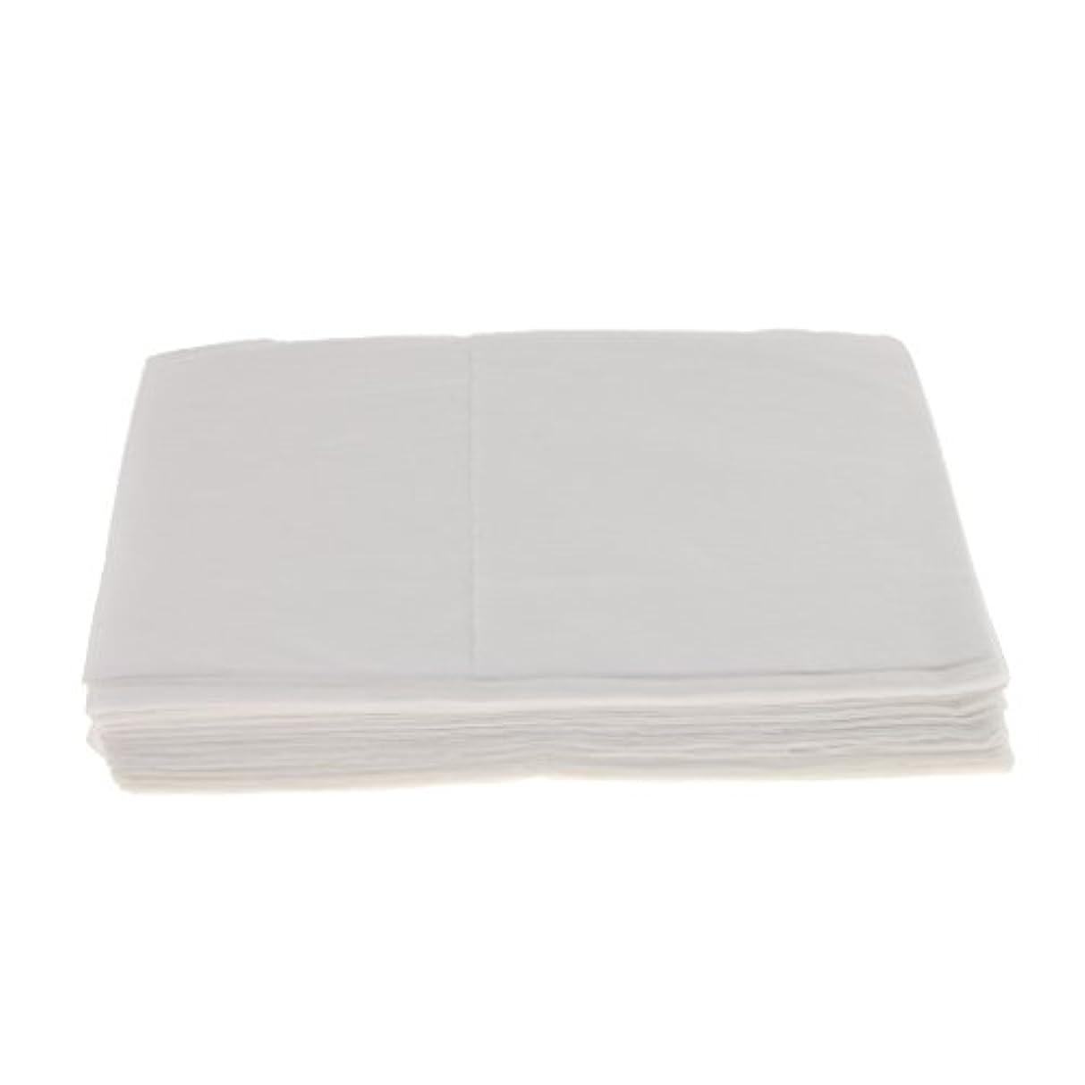 シャトル突然の火薬Baosity 10枚 使い捨て ベッドシーツ サロン ホテル ベッドパッド カバー シート 2色選べ - 白
