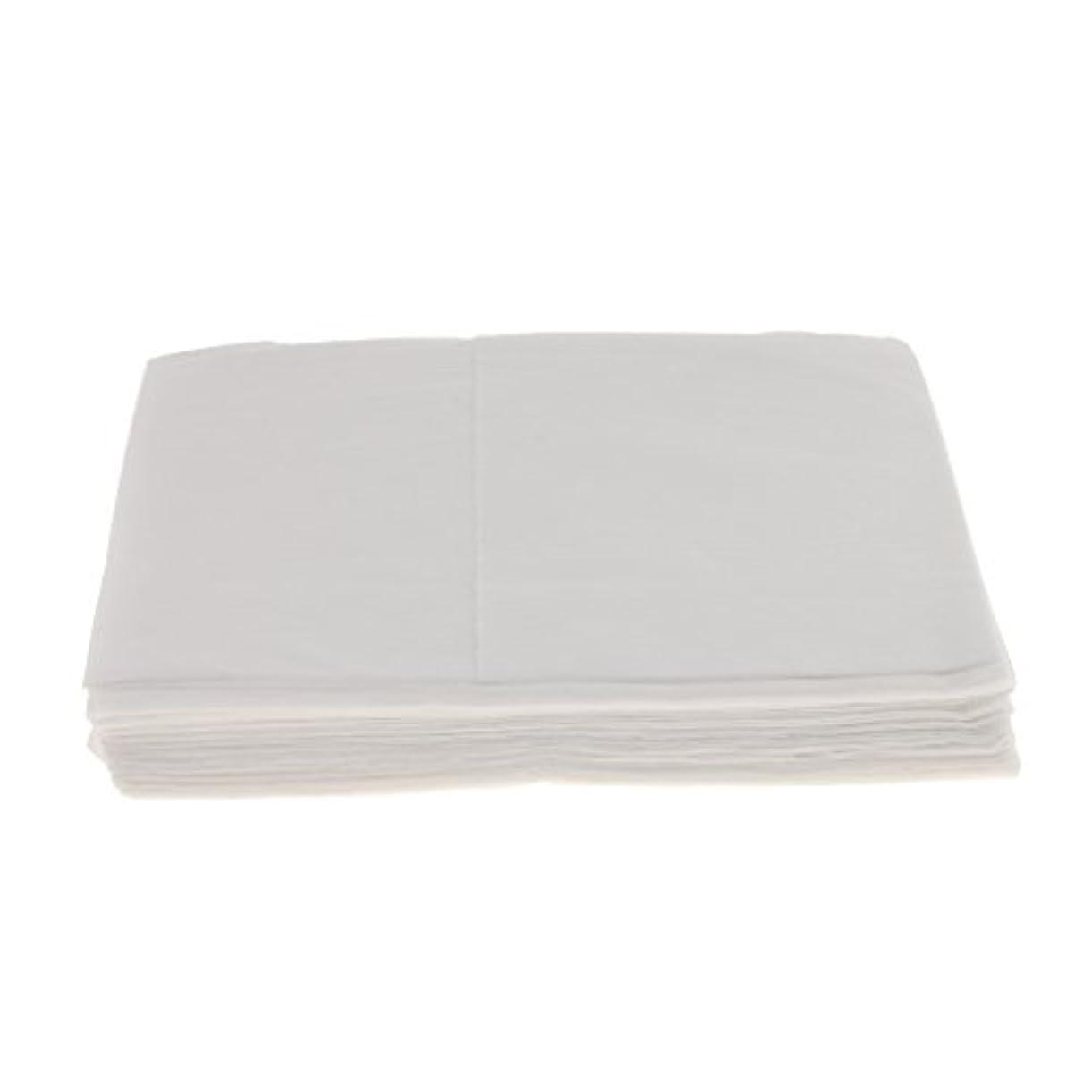 強風虚栄心状態10枚 使い捨て ベッドシーツ サロン ホテル ベッドパッド カバー シート 2色選べ - 白