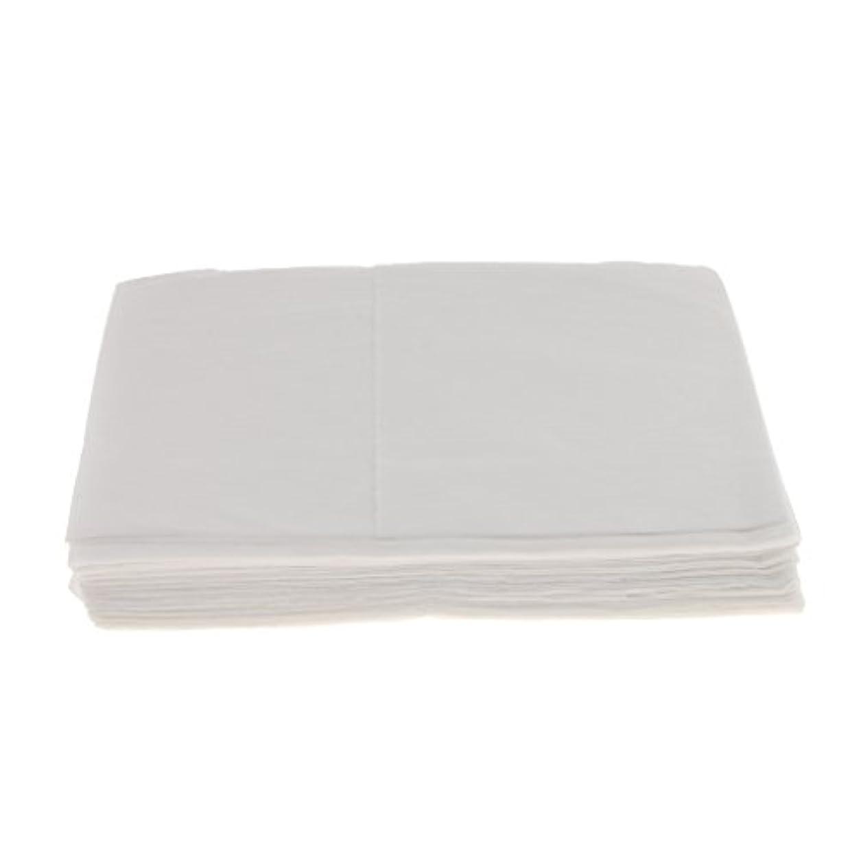 カヌー成功する不快なBaosity 10枚 使い捨て ベッドシーツ サロン ホテル ベッドパッド カバー シート 2色選べ - 白