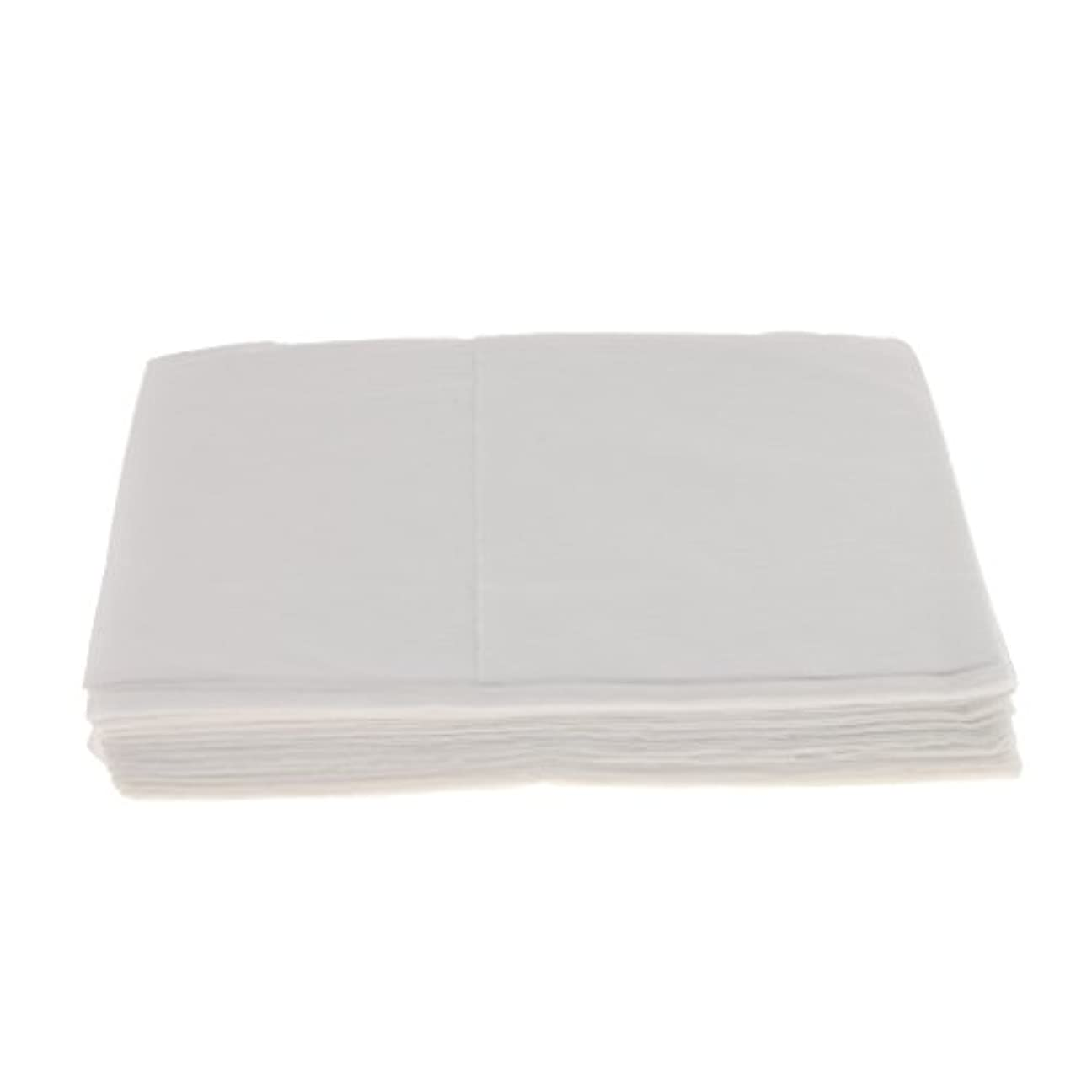 Baosity 10枚 使い捨て ベッドシーツ サロン ホテル ベッドパッド カバー シート 2色選べ - 白