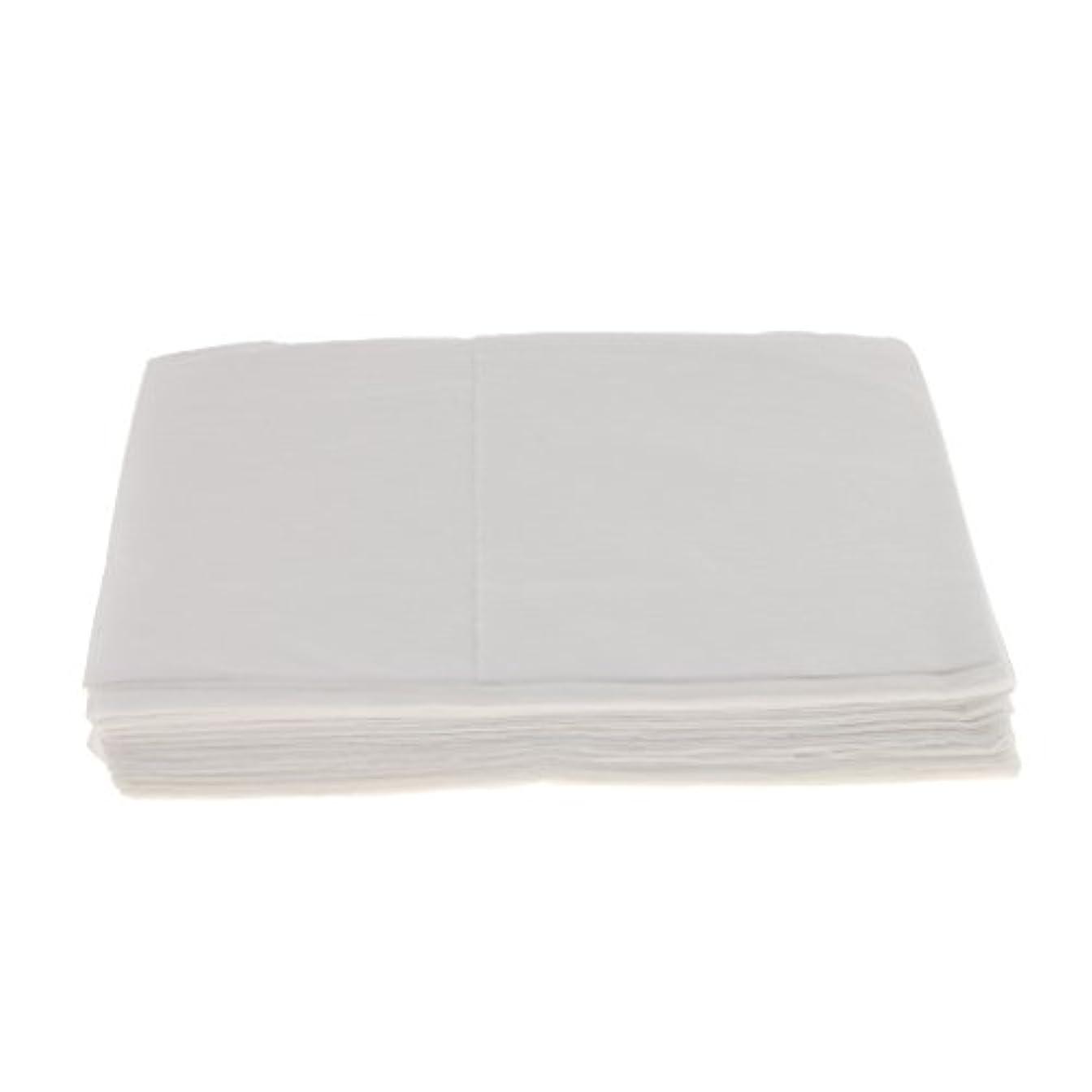 コール死傷者不満10枚 使い捨て ベッドシーツ サロン ホテル ベッドパッド カバー シート 2色選べ - 白