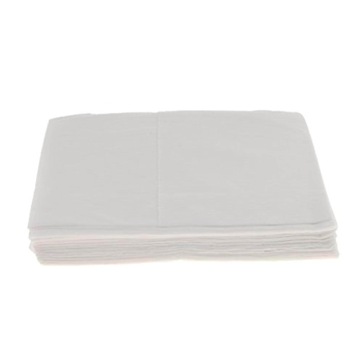 登場ぐるぐる追い付く10枚 使い捨て ベッドシーツ サロン ホテル ベッドパッド カバー シート 2色選べ - 白