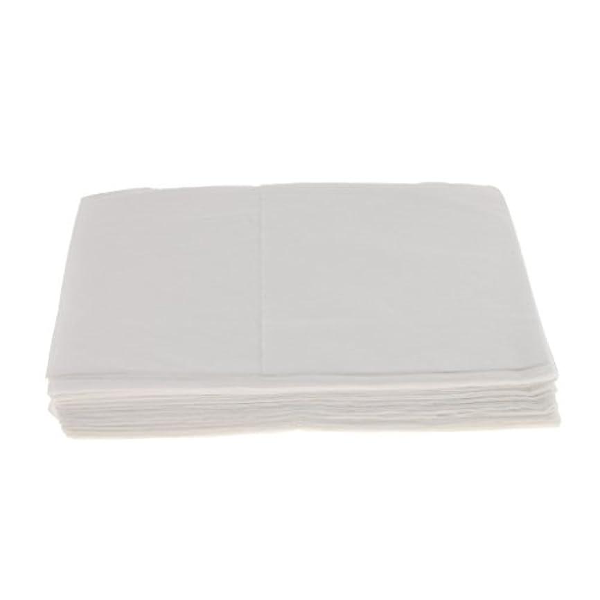 咳ビル予防接種10枚 使い捨て ベッドシーツ サロン ホテル ベッドパッド カバー シート 2色選べ - 白