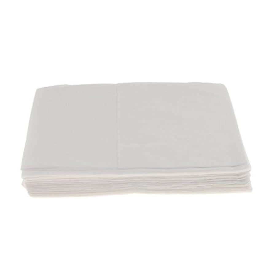 海港ディスカウント追放Baosity 10枚 使い捨て ベッドシーツ サロン ホテル ベッドパッド カバー シート 2色選べ - 白