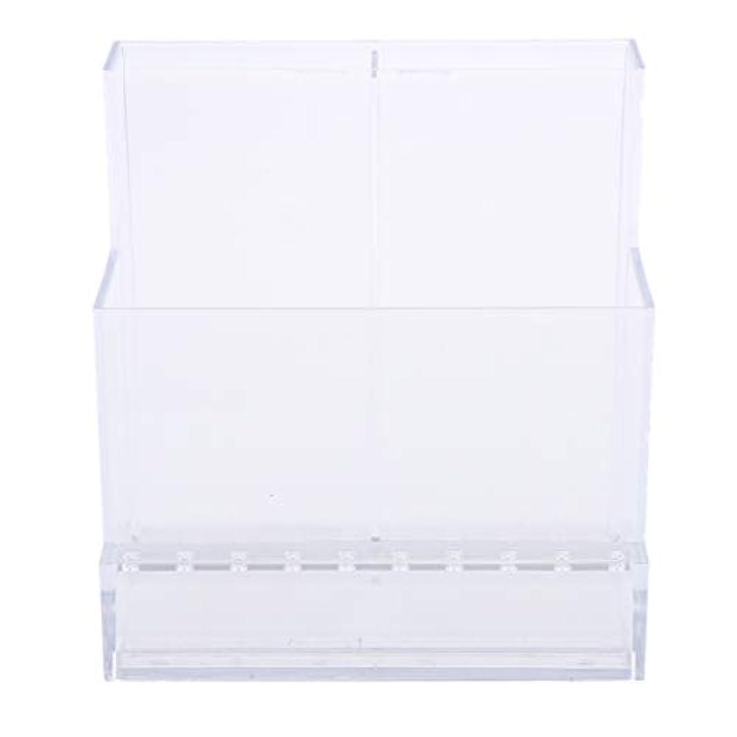 記事箱たまにSharplace ネイルアート ドリルビットホルダー スタンド ディスプレイボックス ネイルサロン 収納ボックス 2色選べ - クリア