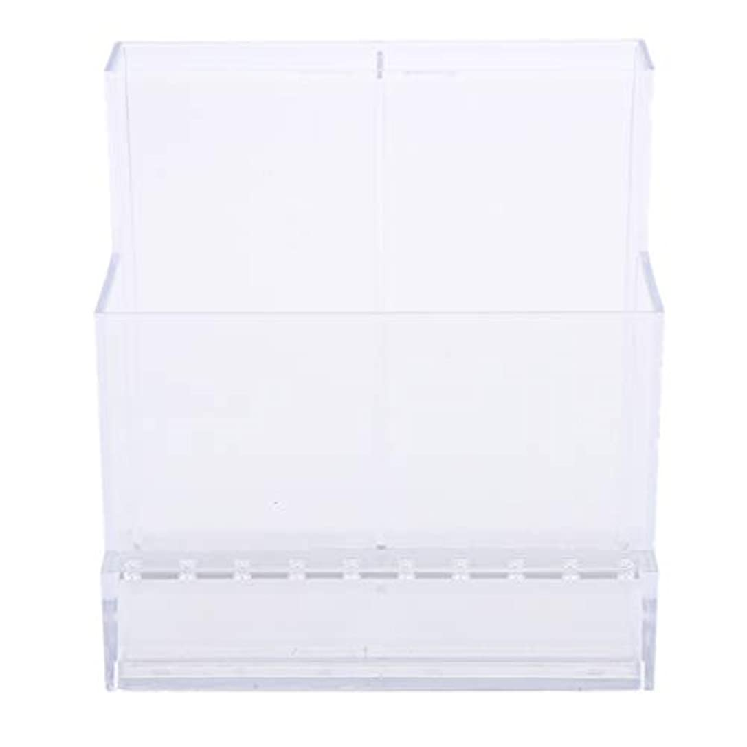 日常的にソファーマインドフルネイルアート ドリルビットホルダー スタンド ディスプレイボックス ネイルサロン 収納ボックス 2色選べ - クリア
