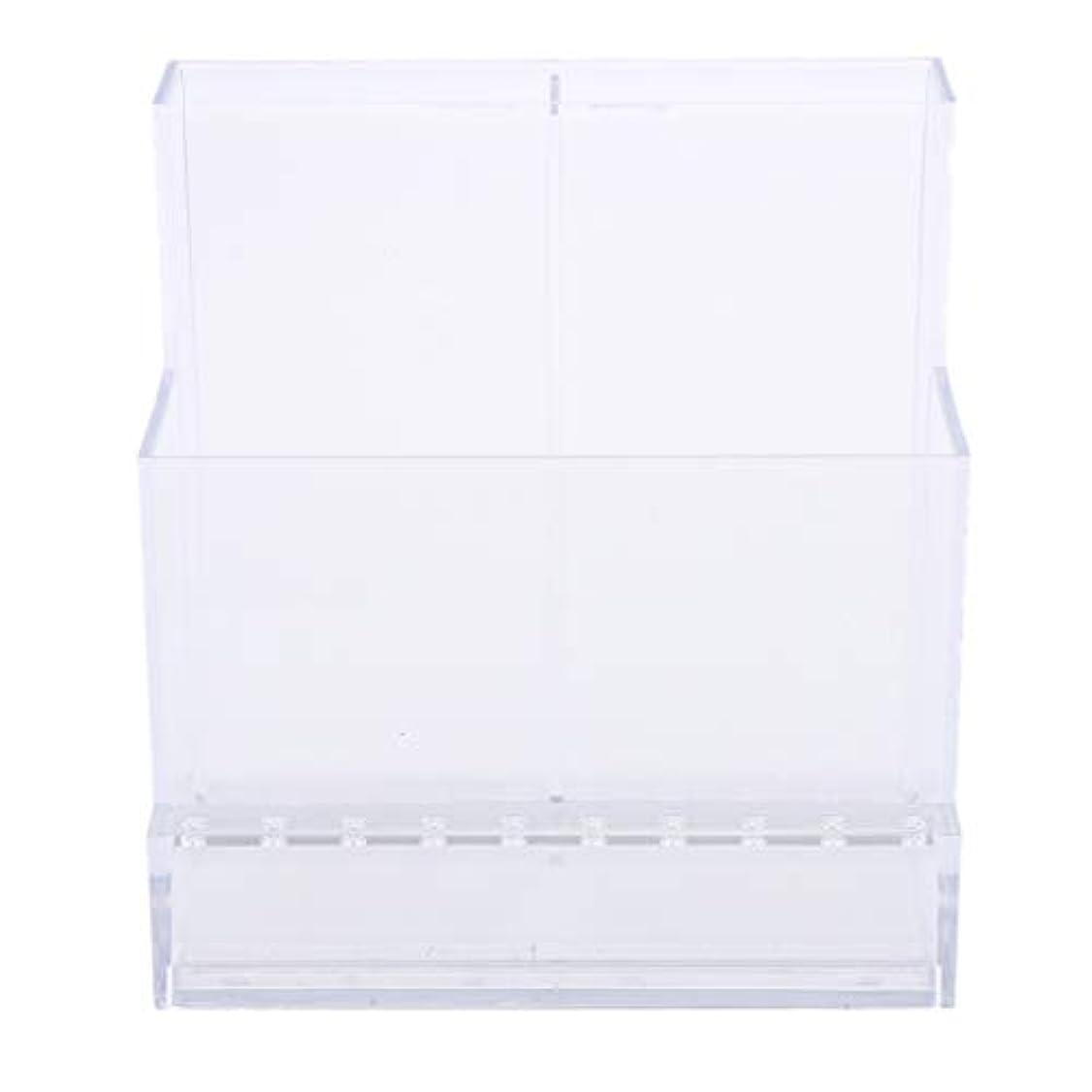 アメリカ気分が悪い噴水ネイルアート ドリルビットホルダー スタンド ディスプレイボックス ネイルサロン 収納ボックス 2色選べ - クリア