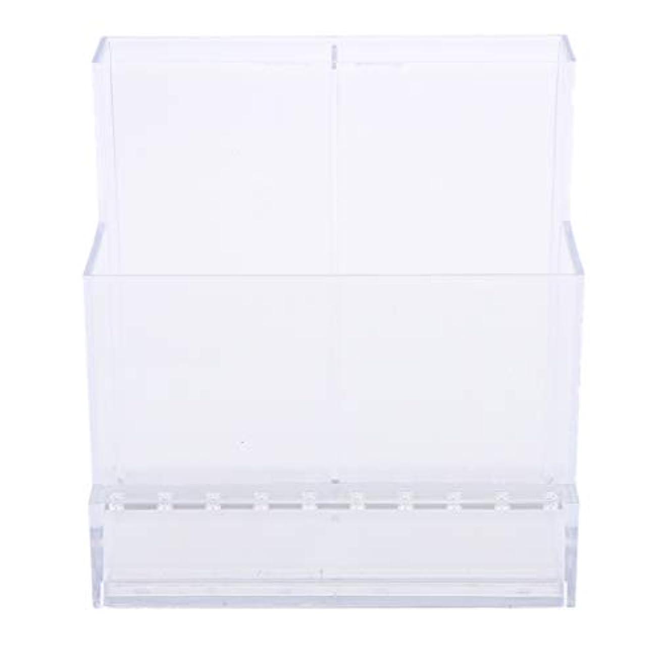 ケーブルカー統計的不可能なネイルアート ドリルビットホルダー スタンド ディスプレイボックス ネイルサロン 収納ボックス 2色選べ - クリア