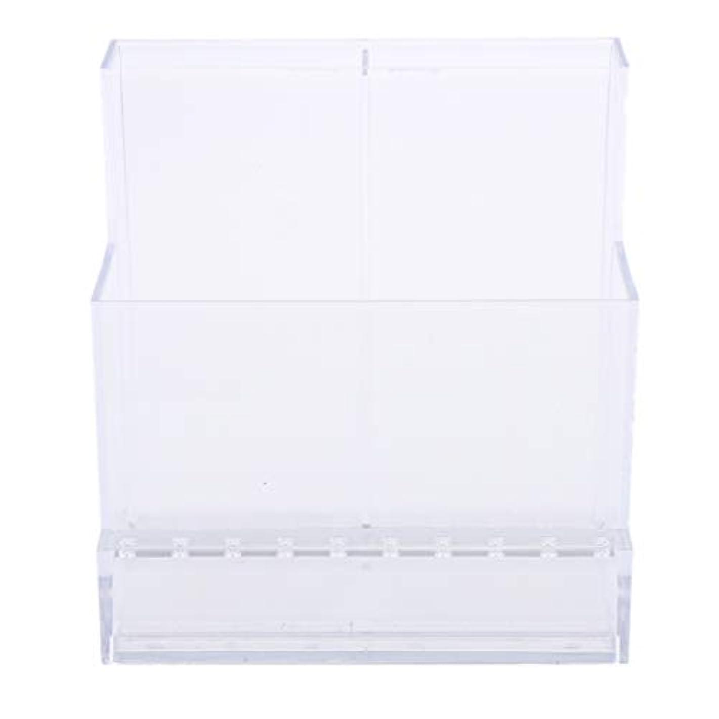 余剰空白眩惑するネイルアート ドリルビットホルダー スタンド ディスプレイボックス ネイルサロン 収納ボックス 2色選べ - クリア
