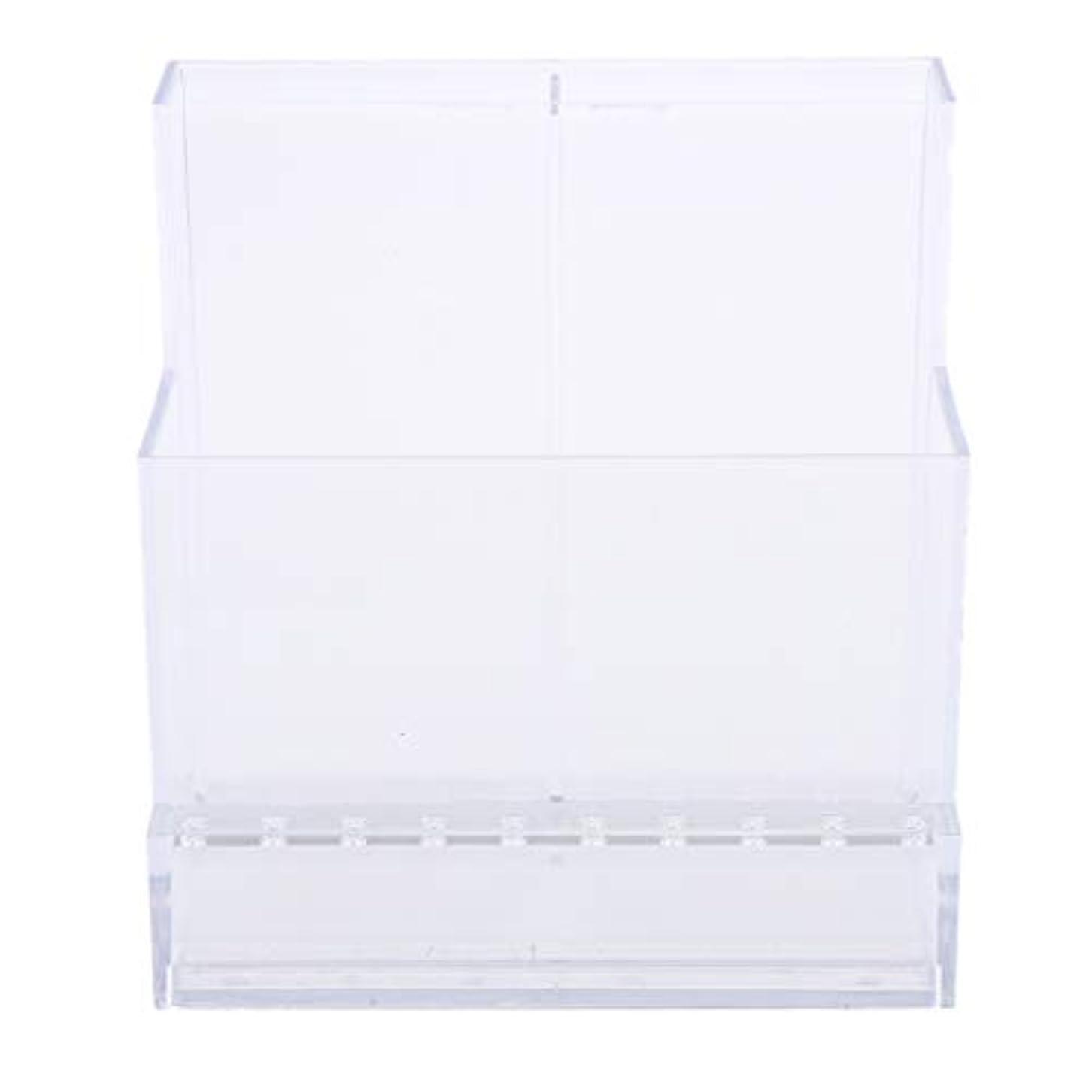 別の貫通導体ネイルアート ドリルビットホルダー スタンド ディスプレイボックス ネイルサロン 収納ボックス 2色選べ - クリア