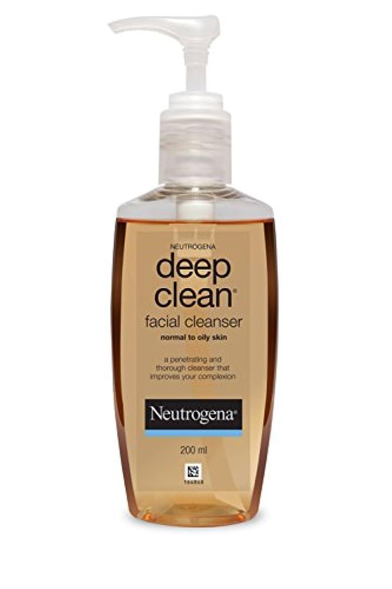 船乗り広範囲に照らすNeutrogena Deep Clean Facial Cleanser, 200ml