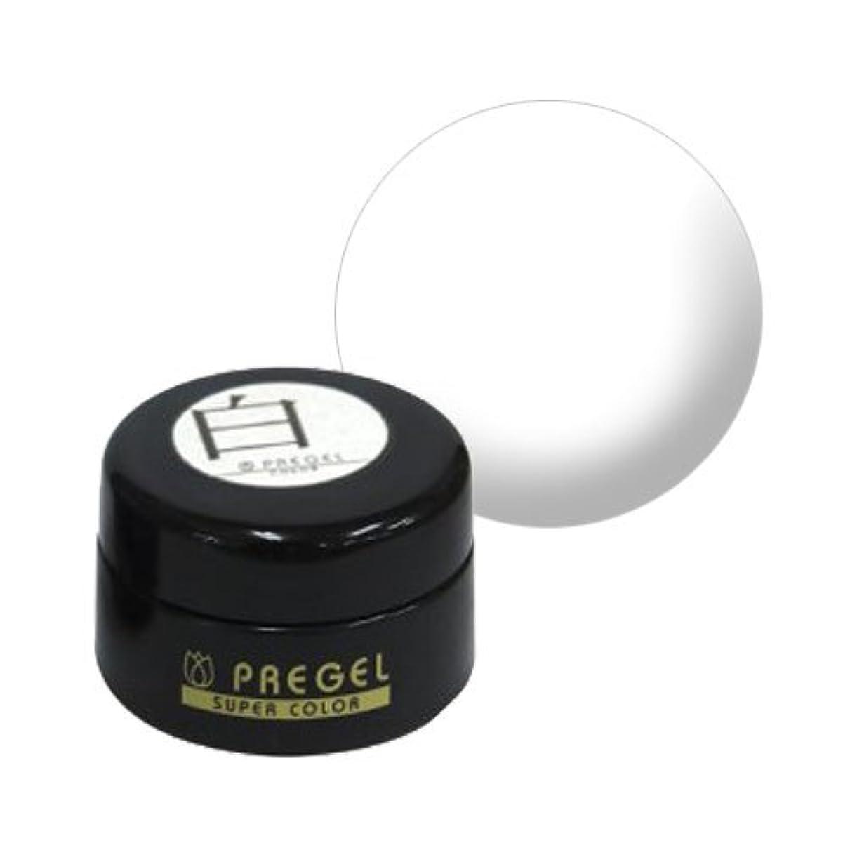 ツーリスト郊外簡略化する【PREGEL】カラーEx 白 / PG-CE110 【UV&LED】プリジェル カラージェル ジェルネイル用品