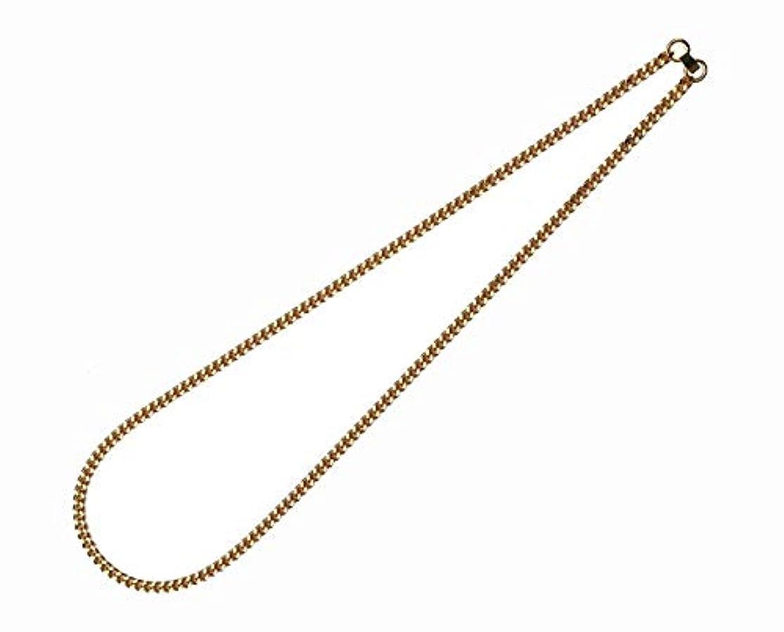 たくさんの平行フレキシブルオールゲルマニウム 喜平ネックレス(ゴールドカラー)55cm