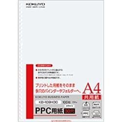 (まとめ)PPC用紙(共用紙)75gA4・30穴100枚入×25冊 [簡易パッケージ品]