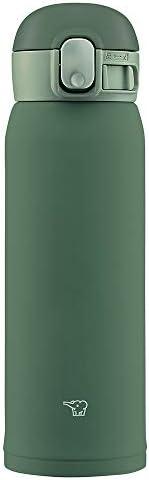 象印 (ZOJIRUSHI) 水筒 ワンタッチ ステンレスマグ シームレス 0.48L カーキ SM-WA48-GD