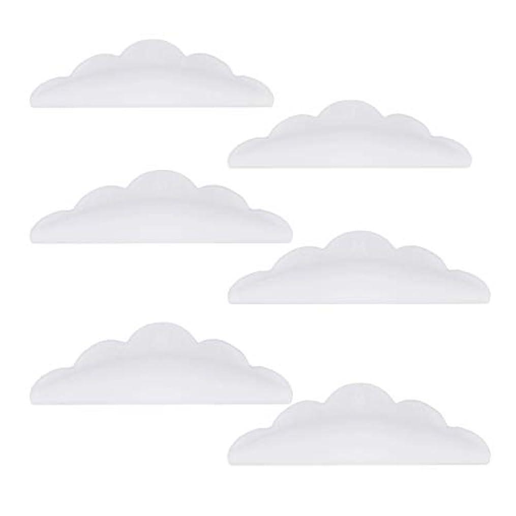 パーフェルビッド試してみる花Lurrose 24本のシリコーンまつげパーマカーラーシールドパッド化粧道具(ホワイト)