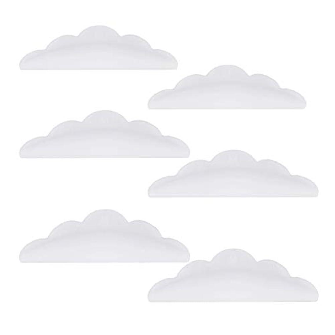 ふつうこれら不格好Lurrose 24本のシリコーンまつげパーマカーラーシールドパッド化粧道具(ホワイト)
