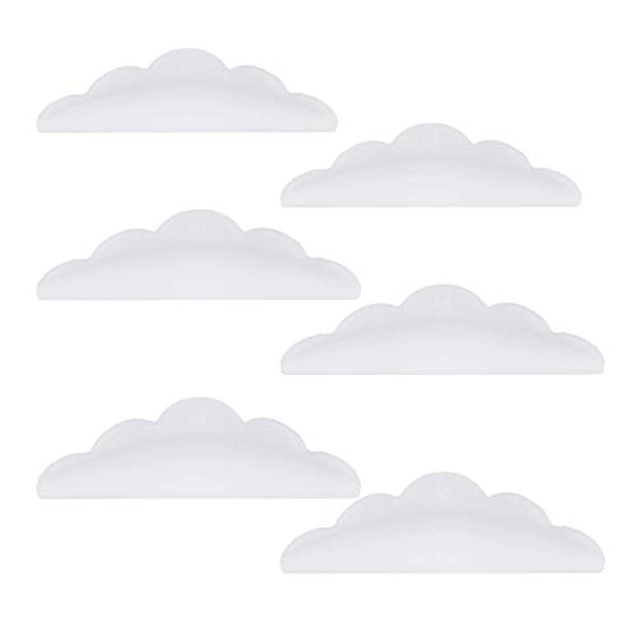 虚偽発明するカプセルLurrose 24本のシリコーンまつげパーマカーラーシールドパッド化粧道具(ホワイト)