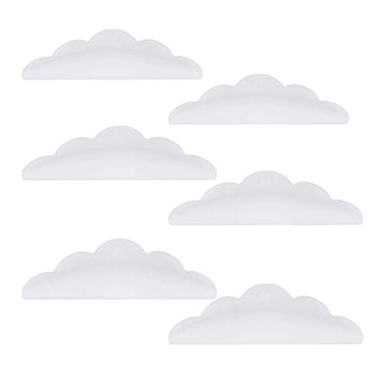 雨の形式感謝Lurrose 24本のシリコーンまつげパーマカーラーシールドパッド化粧道具(ホワイト)