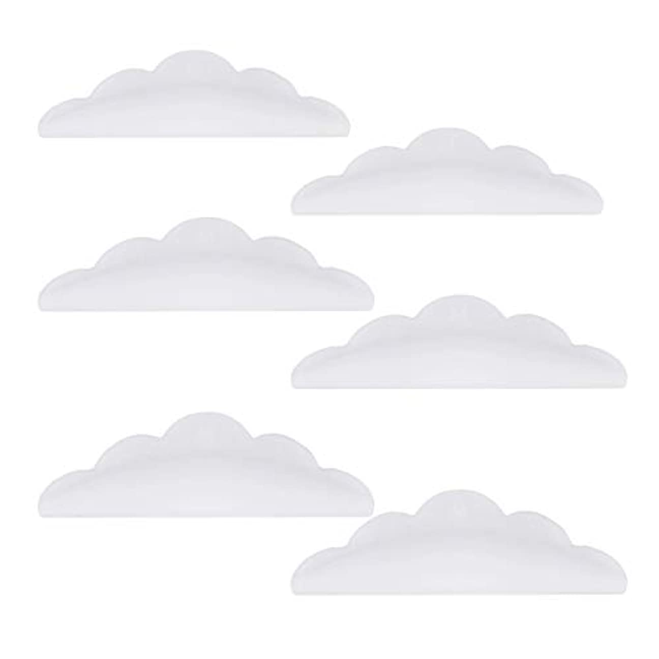 ごめんなさい頼る降臨Lurrose 24本のシリコーンまつげパーマカーラーシールドパッド化粧道具(ホワイト)