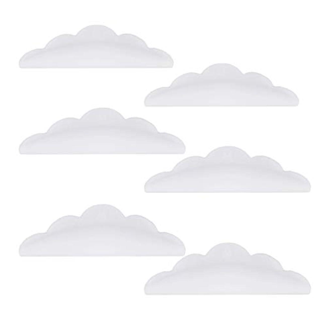 リネンスティックバッジLurrose 24本のシリコーンまつげパーマカーラーシールドパッド化粧道具(ホワイト)