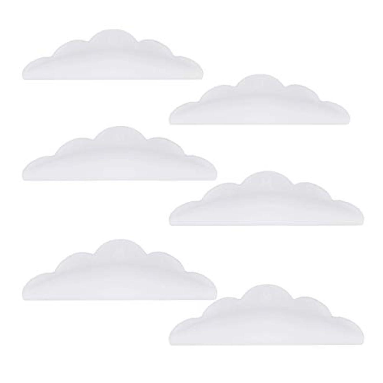 ロケット価値環境Lurrose 24本のシリコーンまつげパーマカーラーシールドパッド化粧道具(ホワイト)